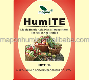 Liquid humic acid fertilizer in agricultural application with micronutrients