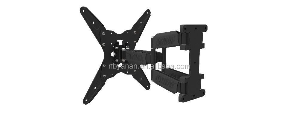 swivel tv bracket with cable management with plastic cover tilt:10 degree up and down