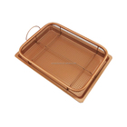 OKAY BK-D1072B as seen on TV Air Fryer copper crisper chef baking tray set copper basket GS copper bakeware