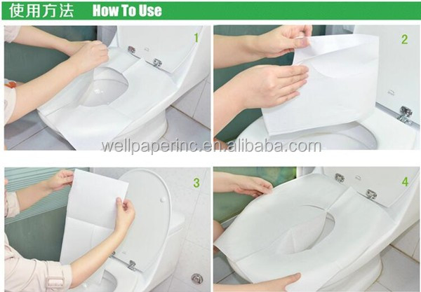 Printed Travel Disposable Toilet Seat Covers-10pcs