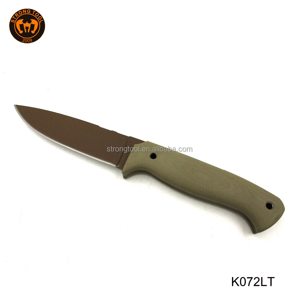 Tactical Hunting Survival Knife Skinner Bowie Fixed Blade with camouflage nylon Sheath for Speicial Promotion
