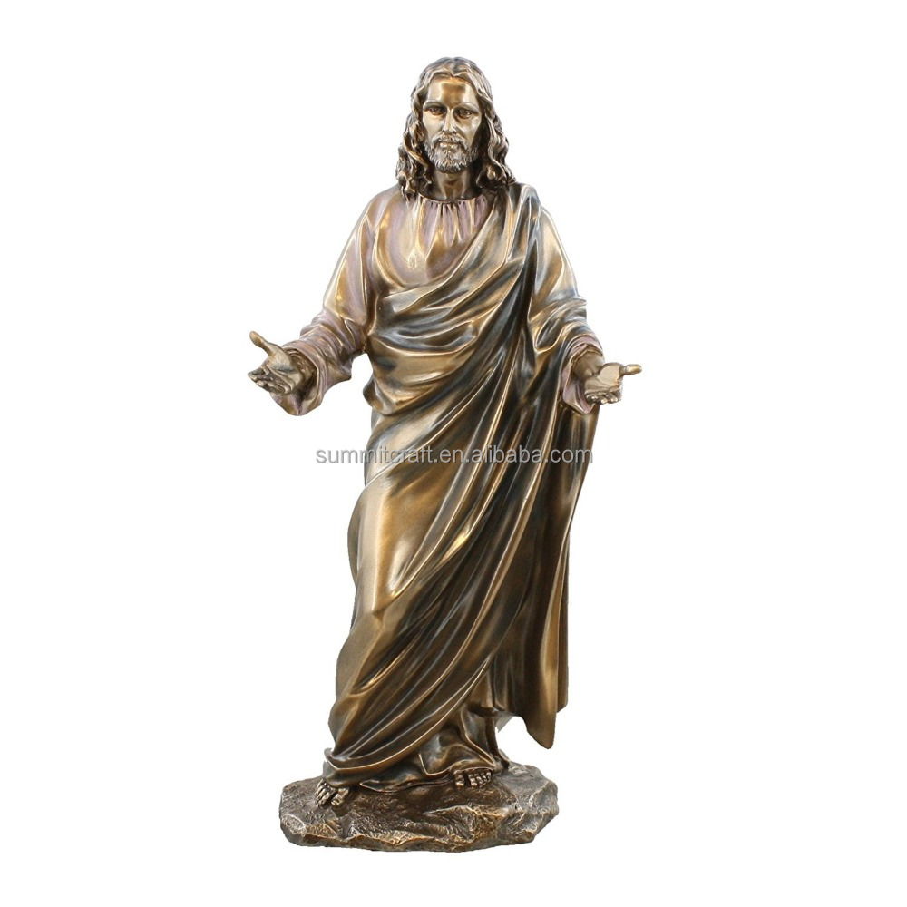 "12""Custom Cold Cast Bronze resin jesus catholic religious items"