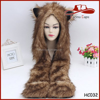 Good Quality Hot Sale Safe Standard Furry Plush Children Animal Hoods Hats