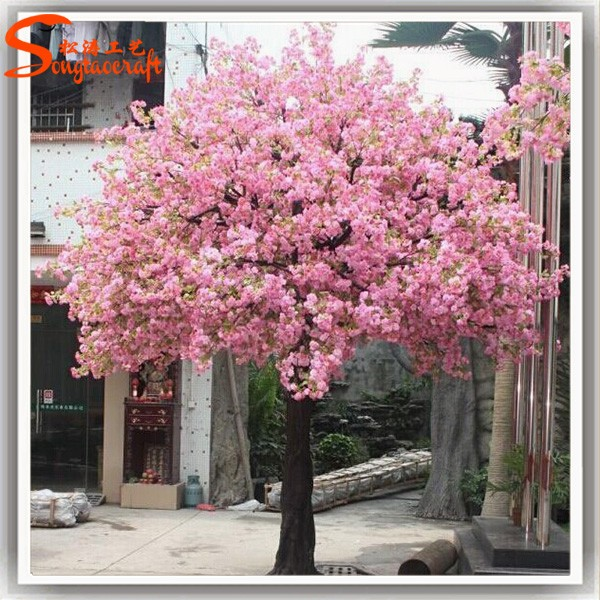Hot selling Fabric Flowers Artificial Cherry Blossom Tree for Wedding Decoration in Good Price