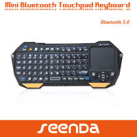 High Quality 2.4G Wireless mini bluetooth keyboard with touchpad for ipad
