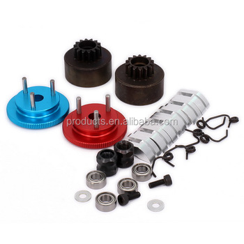 1set Red Clutch Bell 14T Gear Flywheel Assembly Bearing Clutch Shoes Springs Cone & Engine Nut For 1/8 RC Nitro Car Parts