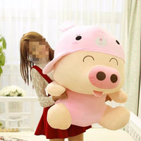 Various colours cute stuffed big pig toy for girl gift
