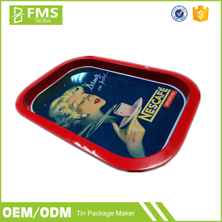 Wholesale High Quality Custom Made Print Tin Rolling Tray Tin Tray
