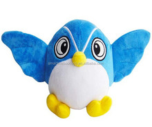 custom make cheap plush toy animal blue owl bird