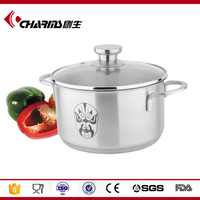 Large Electric Induction Stainless Steel Stock Pot Cooking Cookware Pot With Cover