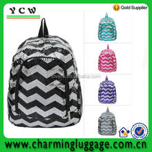 chevron sequin backpack bookbag school bag