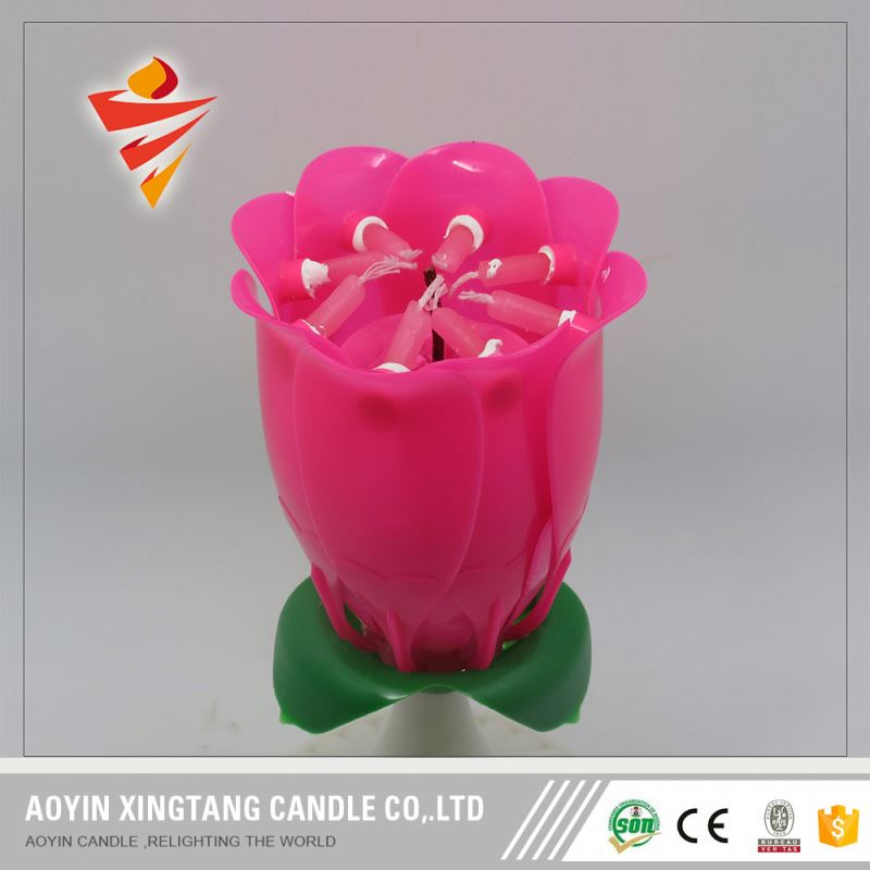 Paraffin Wax Rainbow Color Fancy Cake Shaped Birthday Candles