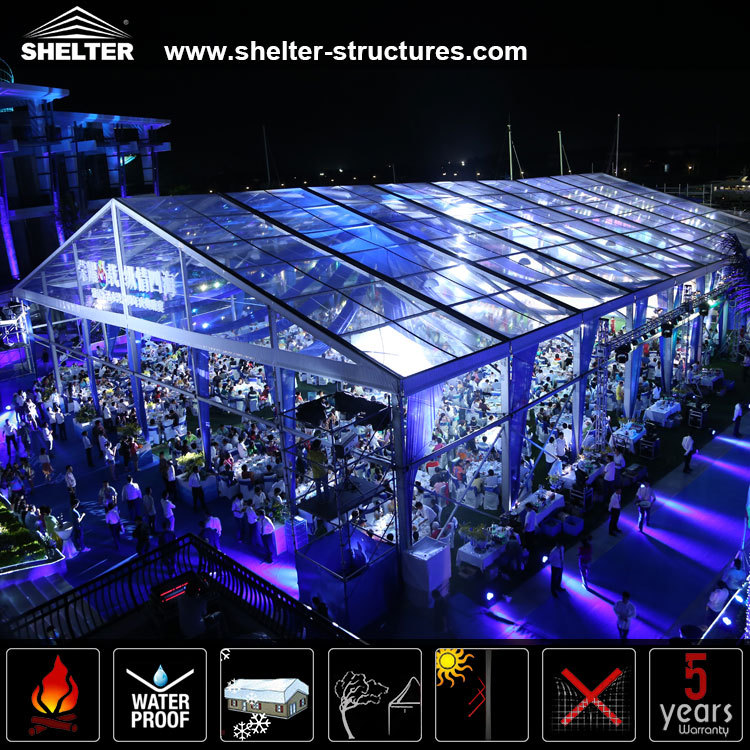 1000 people cheap clear roof wedding tents for sale
