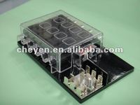 Automotive Fuse Box, Holder, Terminal, Accessories for Auto Blade Standard Type Fuse Block (Panel) with Grounding Pad