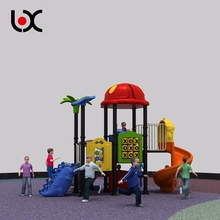 Safe Kids party club plastic slide playhouse slide playground equipment