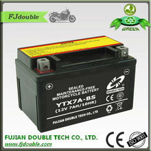 sealed mf YTX7A-BS battery 12v 7ah exide battery india/rechargeable lead acid battery/motorcycle parts