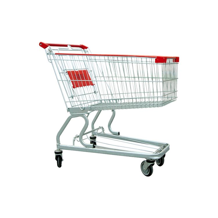 New products 2017 metal durable supermarket storage top grade shopping trolleys