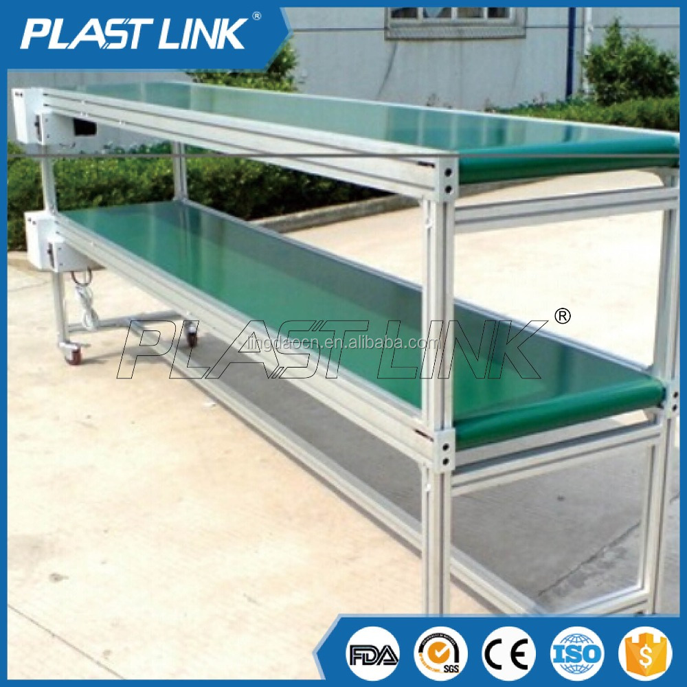 Plast Link Belt Conveyor For Plastic Injection Molding Machinery