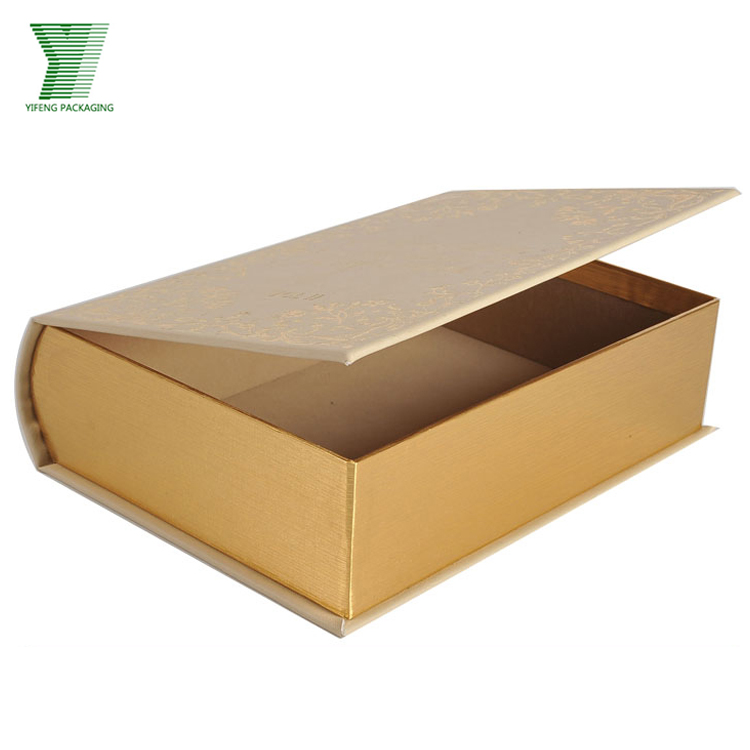 Custom Design Paper Gift Box Fake Book Style Display Cosmetic Packaging