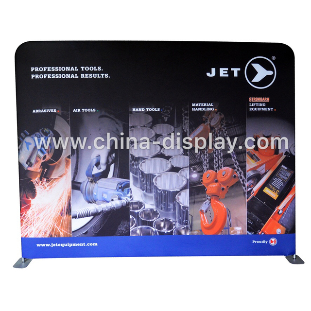 Hot selling 10x10 feet exhibition tension fabric display single side or double side