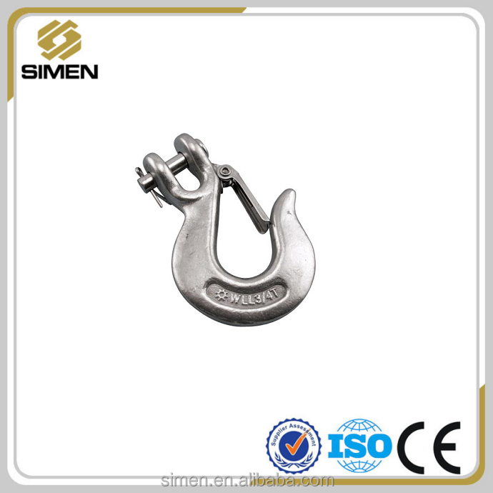 High Quality Forged Steel Clevis Slip Hook with Safety Latch