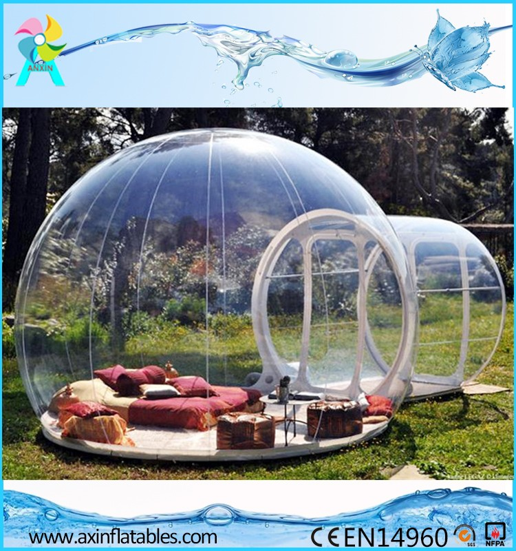 2017 Hotsale Outdoor Camping Transparent Inflatable Bubble Tent For Sale