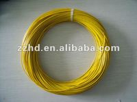 yellow colored thhn thin electrical wire copper core
