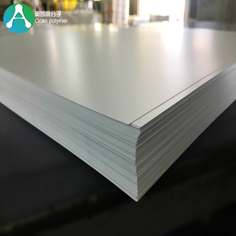 1220x2440mm 1mm Thickness Rigid Opaque White Plastic PVC Sheet for Printing