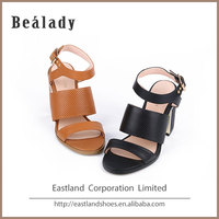 New high heel model calf nappa leather women sandals wholesale china shoes