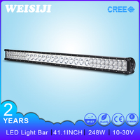 super bright 3w beside 10w middle hybrid led light bar 248w for truck,jeep,off road