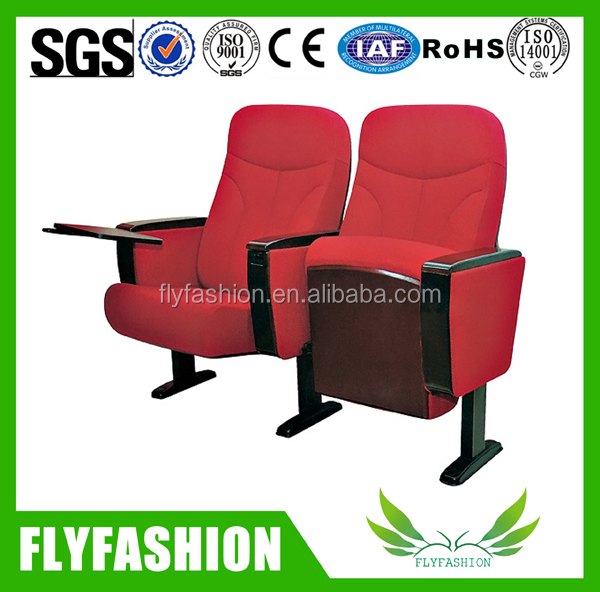 Flame-retardant fabric , folding chair with writting table cinema chair auditorium chair cheap