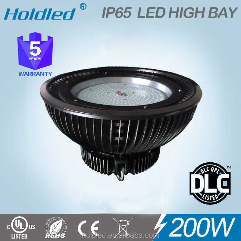 2016 UL DLC 200w UFO SMD LED High Bay light with Finns radiation system