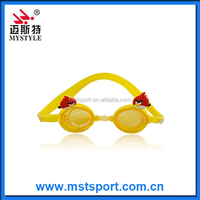 2016 fashion new Cool fashion cartoon kids swimming goggles manufacture factory in China