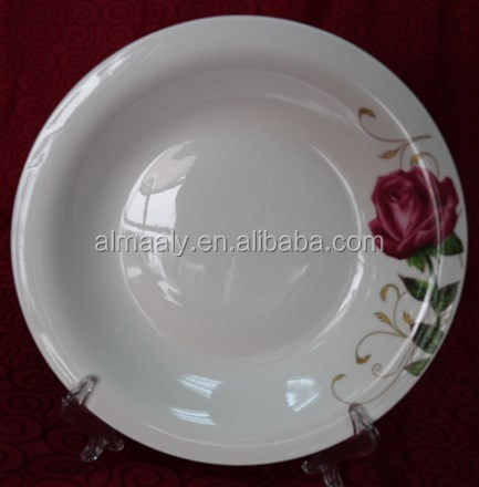 Malaysia fashionable ceramic omega plates purple rose decal