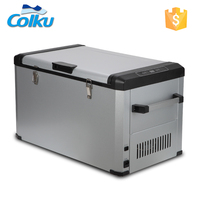 Low Power Consumption 60L 80L Portable Mini Fridge Cabinet With Solar Panel