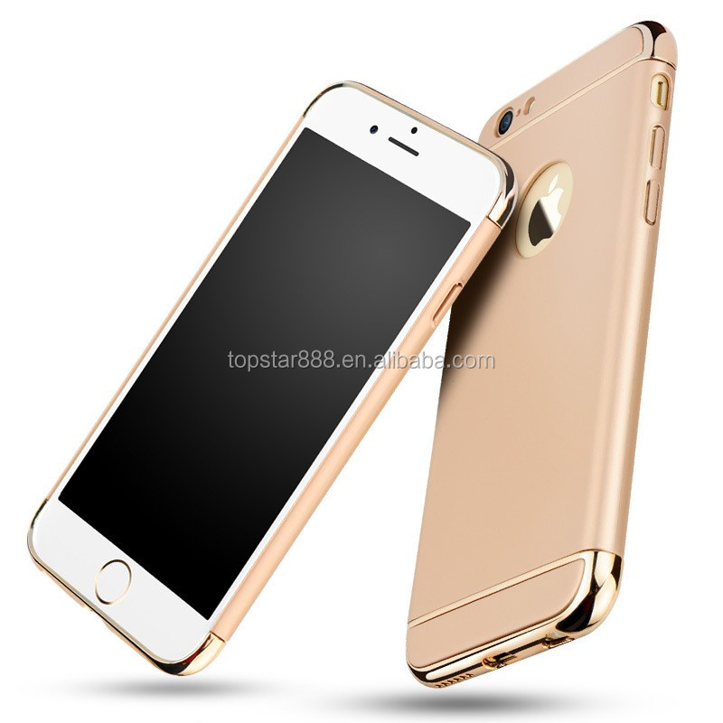 Luxury Hard Plastic Case For iphone 6 6S 7 Back Full Case 3 in 1 Removable Fundas Cover Coque Phone Case