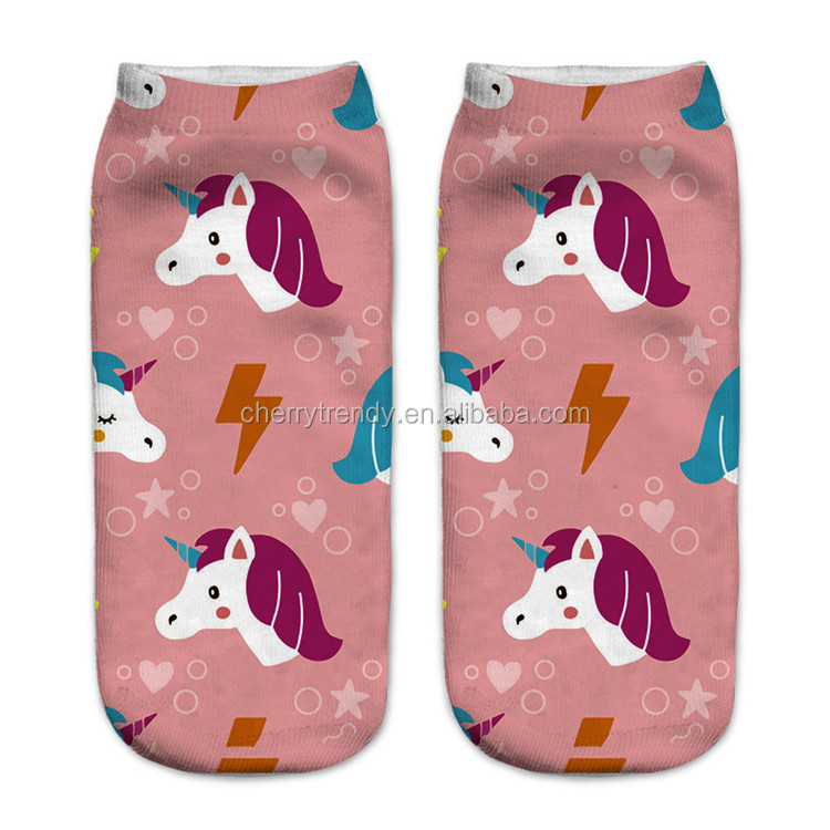 3D Print Cute Unicorn Socks Chic