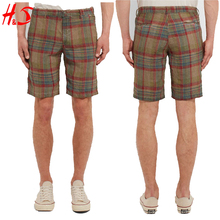 New Innovation Products Best Selling Casual Check Linen Shorts