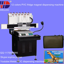 automatic liquid PVC dispenser machine to make fridge magnet