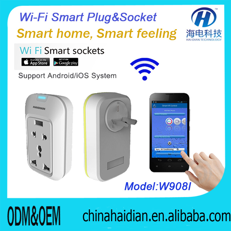 16A 245V wireless remote control timer meter socket with CE FCC RoHS proved