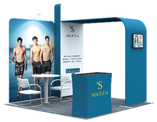 07portable and easy install aluminum tube trade show tension fabric display backdrop 3*3 standard exhibition booth
