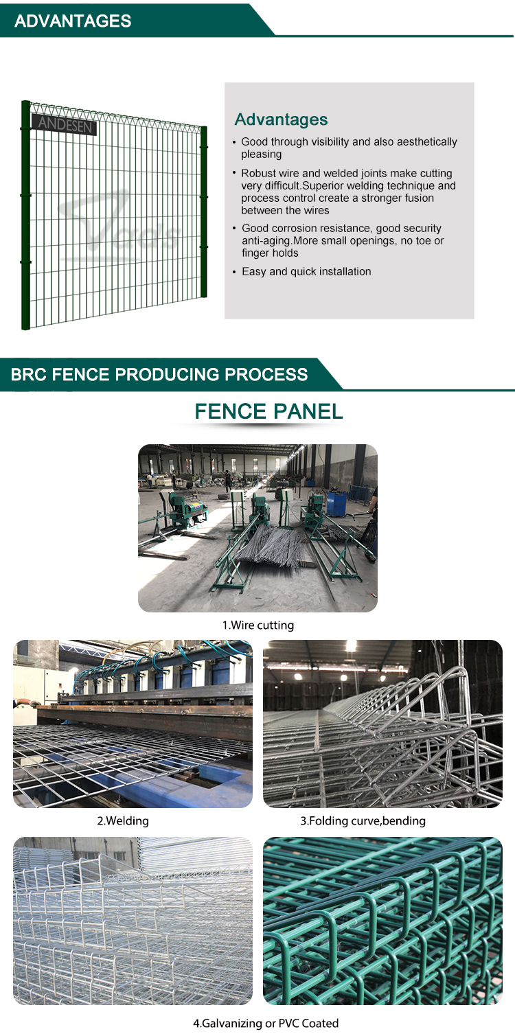 Cheap price high quality standard size brc welded wire mesh fence