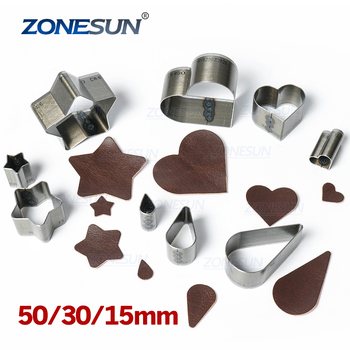ZONESUN Full Steel Leather Cutting Die Steel Rule Die Heart Star Teardrop Mold Punching Clicker Die For Cutting Out Leather PVC