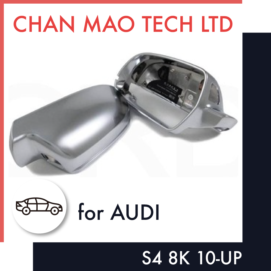 ABS Chrome Plated Car Parts Side Door Mirror Cover For Audi S4 8K
