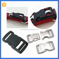 Various size strong metal, plastic pet collar breakaway buckle