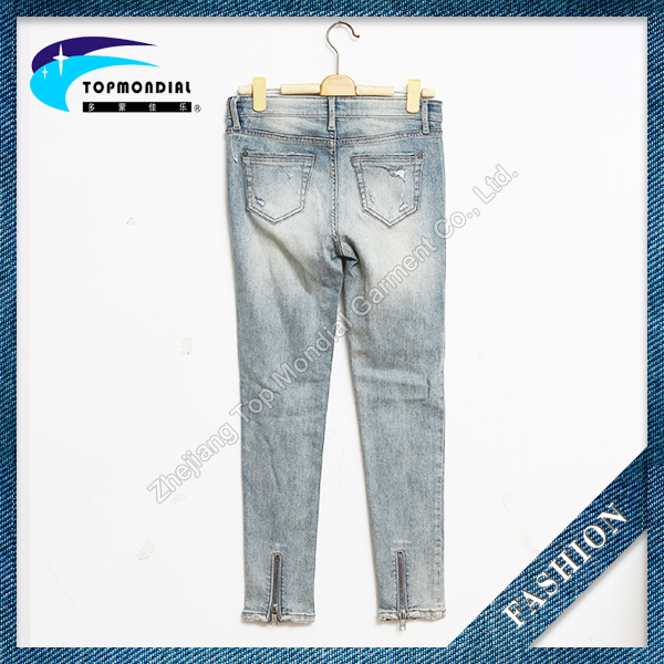 New style girls skinny jeans high quality cheap price women jeans