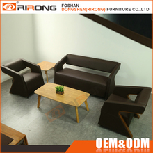 Special customized design modern black leather sofa for office furniture