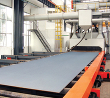 Foundry Industry roller conveyor through type shot blasting machine
