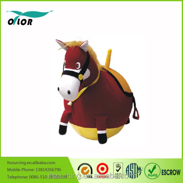 PVC inflatable animal vover plush hopper ball