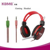 Wholesale Surround Sound Wired Game Headphone Gaming Headset with Mic LED Light for PC Mobile Phone